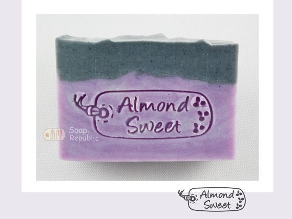 Almond Sweet / Acrylic Soap Stamp ( Soap Republic )
