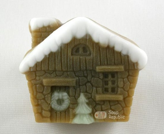 Christmas House Silicone  Soap Mold ( Soap Republic )