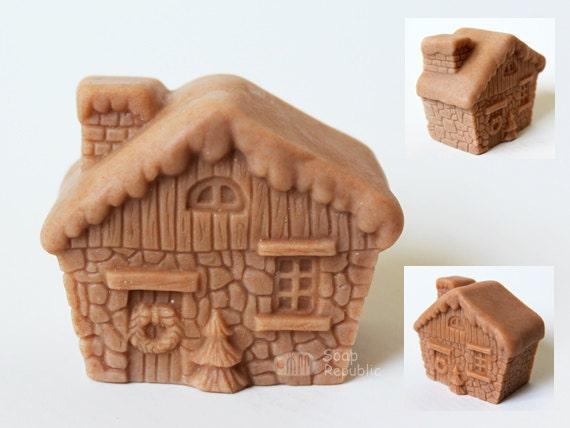 Christmas House Silicone  Soap Mold ( Soap Republic )