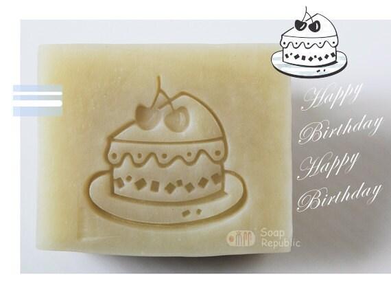 Happy Birthday Cake / Acrylic Soap Stamps ( Soap Republic )