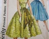 50s Simplicity 1878 Junior Misses Party Evening Dress Pouf Skirts Size 15 Bust 35