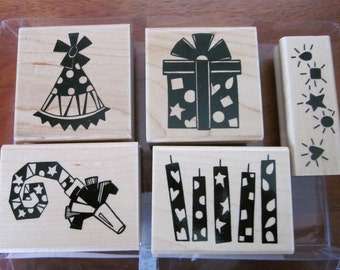 Close to My Heart 5 Birthday Party Stamp Set New and Unused