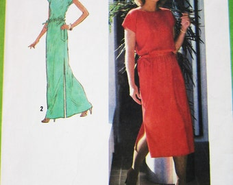 70s Simplicity 8981 Jiffy Pullover Dress with Drawstring Waist Size S 10 12 Bust 32 34