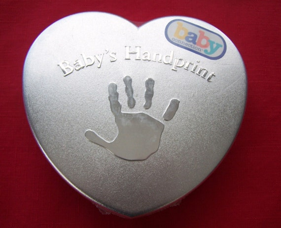 Baby S First Handprint Kit New Sealed In Heart Tin