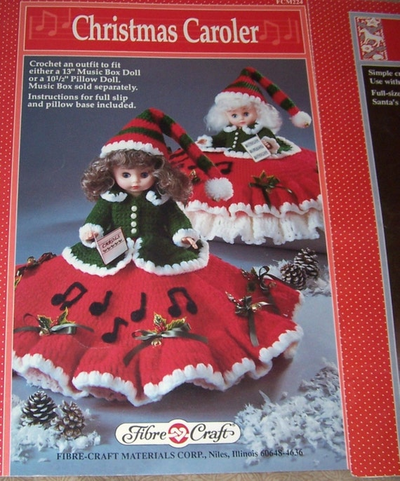 Joy And Noel Holiday Caroler: Crochet Santa Claus And Christmas Caroler Doll PatternsFibre