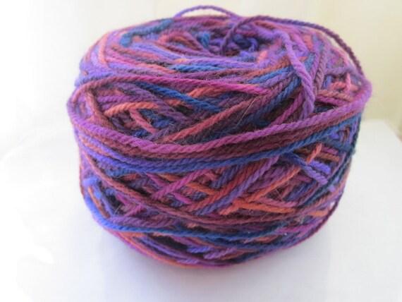 1 Skein Weavers Wool from Mountain Colors, Variegated Purples Wool, 350 yards