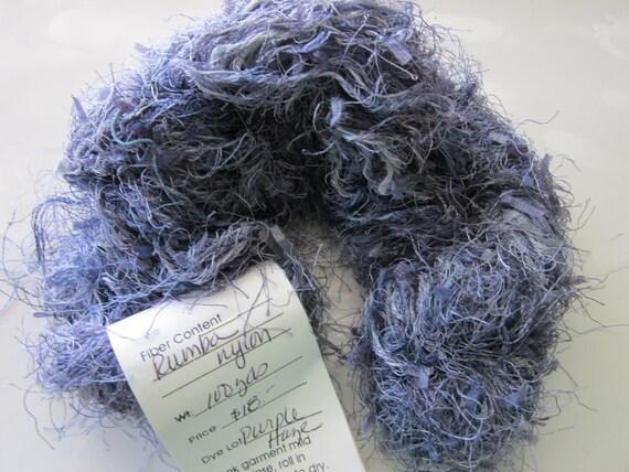 Rumba Nylon novelty Fur yarn in Purple Haze by Chasing Rainbows dyeworks Nancy Finn