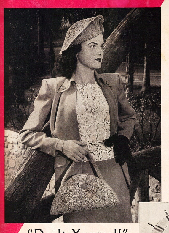 Designs for Crazy Daisy Winder Loom Vintage Crchet Pattern Book 1948