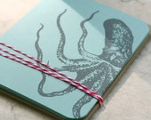 Set of 10 Octopus Note Note Cards