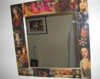 Decorative Wall Mirror Art Collage Decoupage