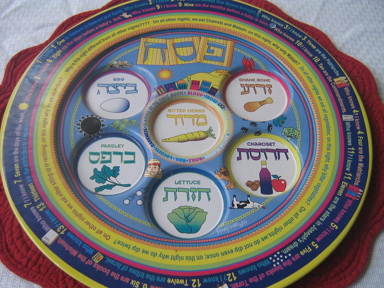 Children S Seder Plate Passover Judaica
