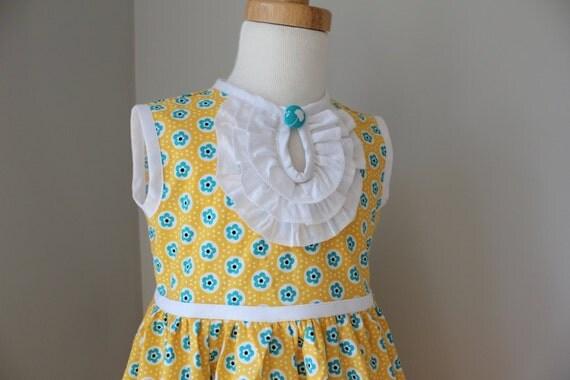 Girls Dress in Yellow - Sizes 12-18m, 2t, 3t, 4t, 5t