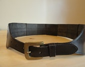 Structured Chocolate Leather Belt
