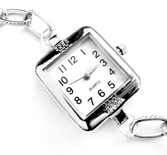 Silver Quartz Bracelet Watch - Rectangle (Get 10% OFF with COUPON CODE)