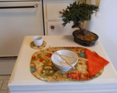 Asian Style Placemats Set of Four