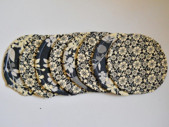 Fabric Coasters Padded Reversible the Cora Collection