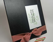 Chalk It Up Chalkboard Picture Frame -- 5 x 7 picture -- Burgundy/Cream Ribbon -- Made to Order