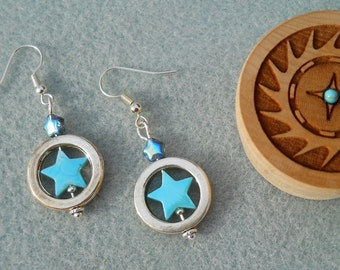 Blue Star - Earrings