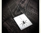 Dangling Spider Necklace in Sterling Silver