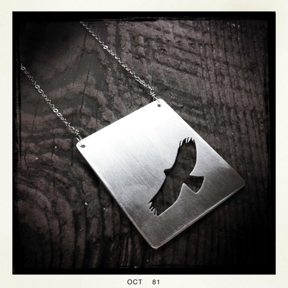 RESERVED- Peregrine Flying Necklace in Sterling Silver