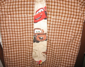 Lightning McQueen Mater  Boys Necktie