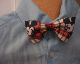 Boys Mickey Mouse clip on bow tie