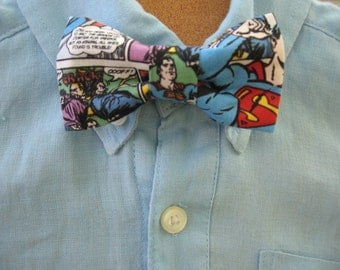 Superman boys bowtie