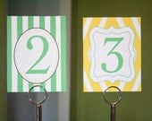 Custom Table Numbers - Printable PDF