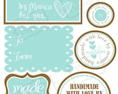 Crafters Gift Tag/Label Set - Printable PDF