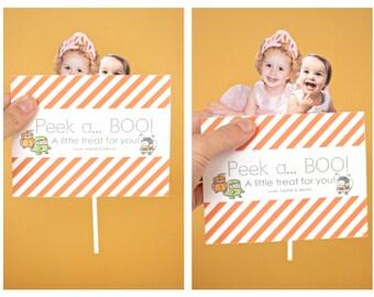 INSTANT Download-DIY 'Peek a BOO' Pop Up Halloween Card - Printable pdf