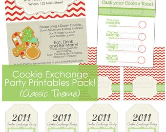 INSTANT-2015 Cookie Exchange Party Package- Printable PDF