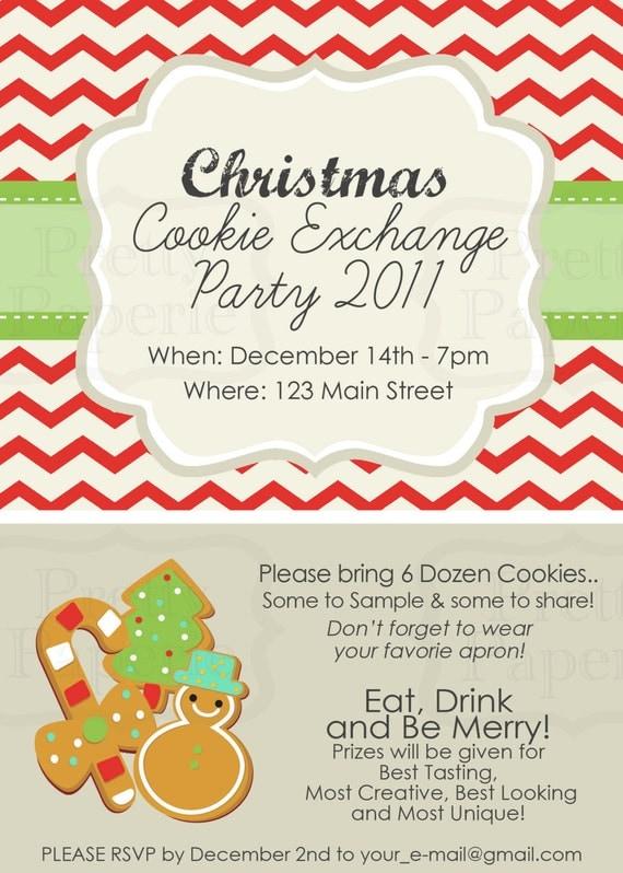 Items similar to Custom Cookie Exchange Party INVITE ...