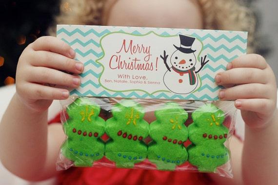 INSTANT Download-Christmas Treat Bag Tags: Snowman - Printable PDF