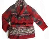 RESERVED FOR KAREN G - Vintage Ralph Lauren Blanket Coat Studded by coppeRivet
