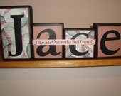 Baseball Name Blocks - Sports, Colors, You Choose your theme and Colors - Any Style - Be Creative