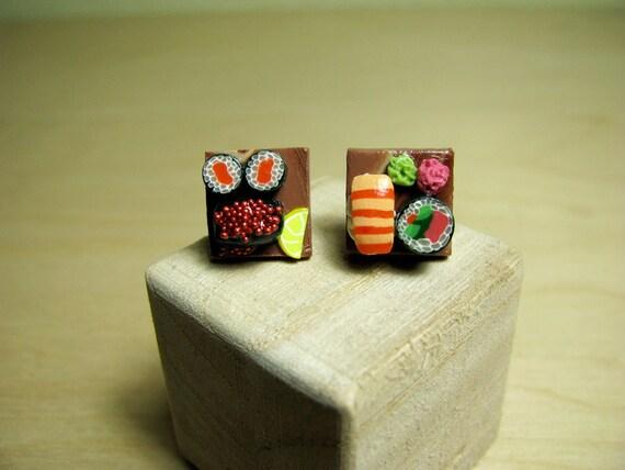 Sushi Platter Stud Earrings