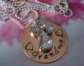 Grandma Remembrance Necklace Memorial Jewelry with Angel