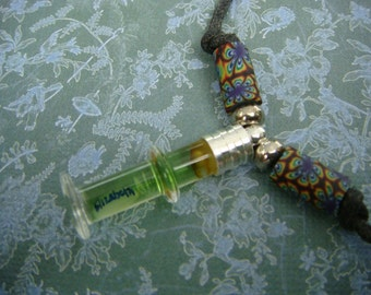 Rice Writing Necklace Name on Rice Jewelry - Post Glass Vial