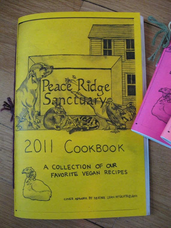 Peace Ridge Sanctuary Vegan Cookbook Zine
