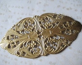 Floral Brass Stamping Huge