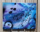 "Modern abstract wall art  on stretched canvas - original blue modern art ""I Dream of Painting"""