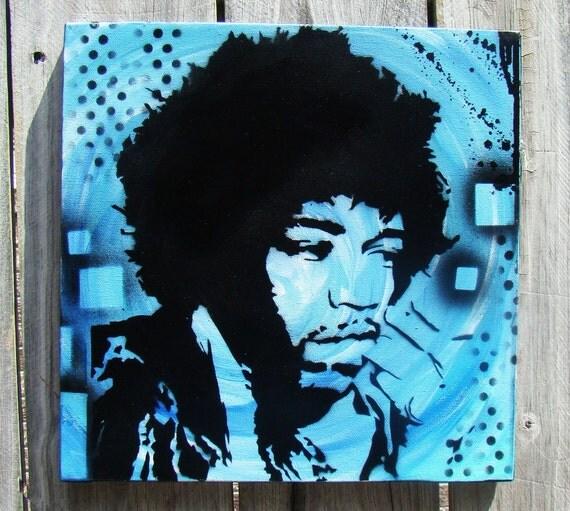 Jimi Hendrix Painting - Modern graffiti art