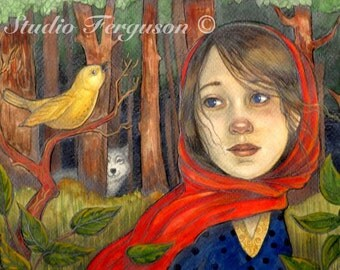 Little Red Riding Hood Print 5x7