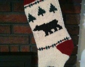 Black Bear Christmas Stocking Pattern to Knit Your Own.