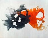 Orange and Grey Original Acrylic Painting