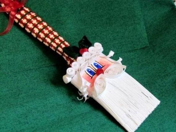 Paintbrush Santa Ornament