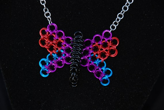 Chainmail Butterfly Pendant