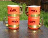 Vintage Siesta Ware Coffee Mug Set