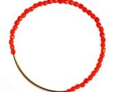 Orange Bracelet - Gold Bar Bracelet