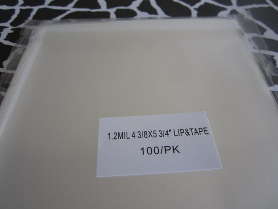100 Cellophane bags 4 3/8 x 5 3/4 lip and tape resealable cello bags. Great for Jewelry, or any small Treasure